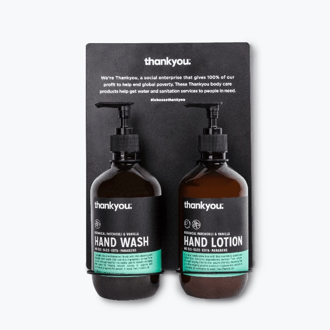 Thank You products - hand wash & hand lotion