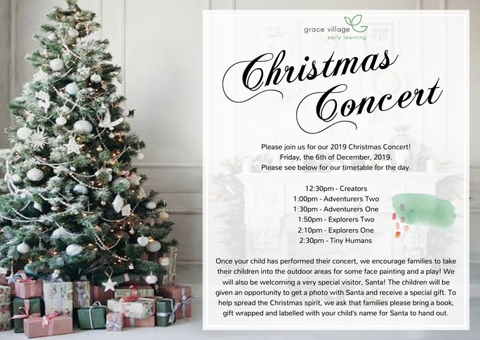 Grace Village Christmas Convert Flyer 2019