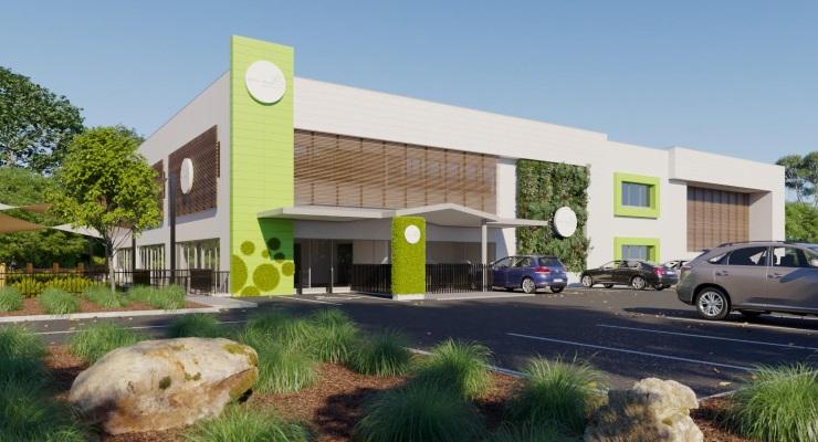 Exterior render view of Grace Village ELC in Huntingwood, NSW