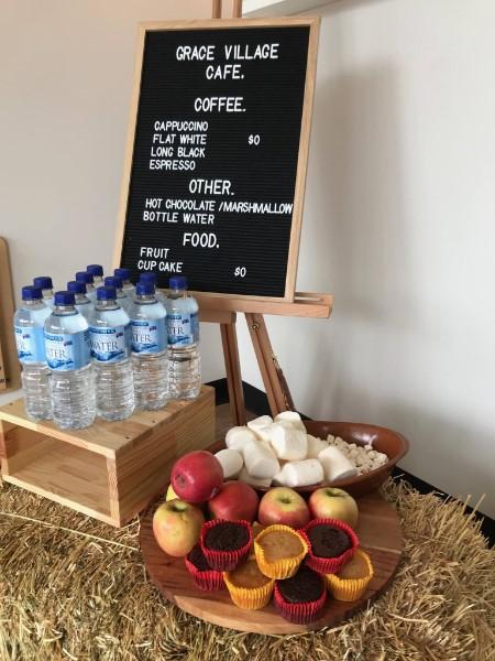 Coffee menu board at Grace Village's Third Space
